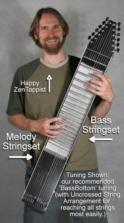 two-handed tapping guitar ZenTapper uncrossed bassbottom tuning